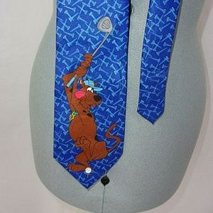 Scooby Doo Golf Tie Blue Teeing off